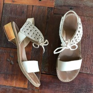 Anthropologie Latigo Trance Crochet Lace Sandal